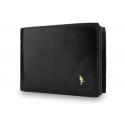 Męski poziomy portfel Puccini P20438 w kolorze czarnym