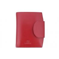Stylowy portfel damski Orsatti D-03C w kolorze czerwonym, skóra