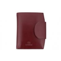 Stylowy portfel damski Orsatti D-03D w kolorze bordowym, skóra