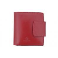 Nieduży portfel damski Orsatti D-04C w kolorze czerwonym, skóra