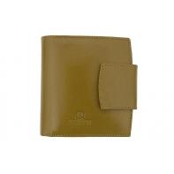 Nieduży portfel damski Orsatti D-04H w kolorze jasno zielonym, skóra