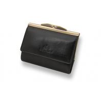 Stylowa portmonetka marki Wittchen 21-1-059, kolekcja Italy, kolor czarny