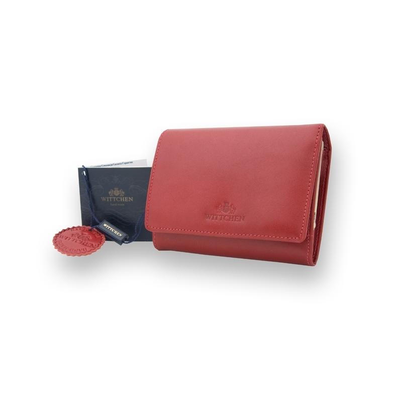 61713168fb08a Czerwony portfel damski marki Wittchen 21-1-070, kolekcja Italy