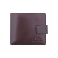 Klasyczny portfel Wittchen z zamknięciem, kolekcja Italy, brązowy