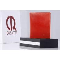 Etui na dokumenty Orsatti ED01 w kolorze czerwonym, skóra