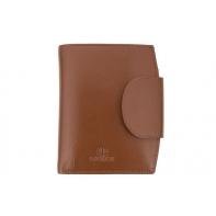 Stylowy portfel damski Orsatti D-03F w kolorze jasno brązowym, skóra