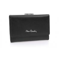 Skórzana portmonetka Pierre Cardin w kolorze czarnym - kolorowy środek